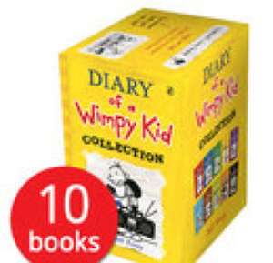 Diary of a Wimpy kid 10 book collection set only £9.59 with code GIFT17 at the book people (plus £2.95 delivery or free delivery with £25 spend)