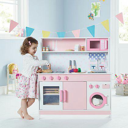George Home Pink Wooden Kitchen £52 - Free c&c