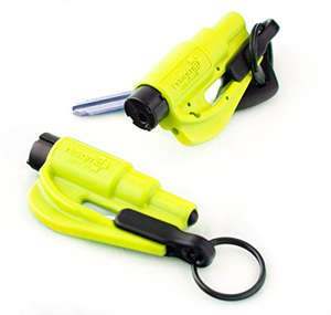 Resqme Car Escape Tool Safety Yellow or Red, Pack of 2, £16.95 Prime / £20.94 Non Prime or single in Black or Blue for £8.95 @ Amazon