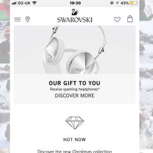 Free headphones + free delivery + free gift wrap when spending £99 at Swarovski including outlet items