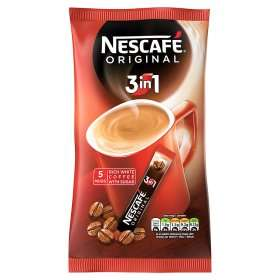 Nescafe Original 3in1 Instant Coffee Sachets 5 for 50p at Asda