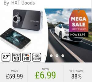 Car dash cam + accessories  only £6.99 (£3.99 delivery) RRP  £59.99 @ Go Groupie