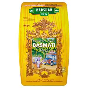 Amazon- Badshah Basmati rice 10 KG - £10 - Prime Exclusive
