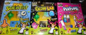 Grafix Weird Science Science Activity Sets (The Mad Scientist, Glow Lab, The Perfume Lab, Stink Bomb), 2 Mad Experiments In Each Box, 8+ Years, £1 Each In Store @ Poundland