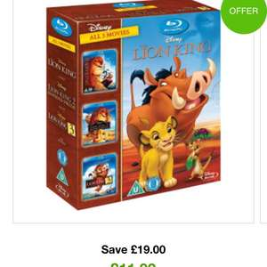Lion king 1-3 trilogy bluray using code XMASBOX10 at zavvi - £10.79
