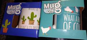 """What A Bunch Of..."" (Two Varieties, Cactus Or Cock Design, Rude Mugs) £1 Each @ Poundland In Store"