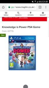 Knowledge is power PS4 GAME  £9.99 @ Maplin