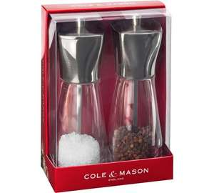 Cole & Mason Salt & Pepper grinders £4.20 @ Argos