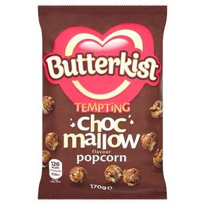 Butterkist Chocolate Mallow Popcorn 170 G.  ( Plus other Flavours ) 74p @ Tesco