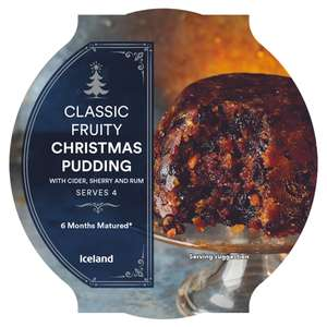 Iceland Classic Fruity Christmas Pudding   454g  instore Tuesday £1.75 @ Iceland