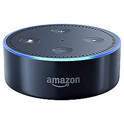 amazon echo dot portable bluetooth speaker black white. Black Bedroom Furniture Sets. Home Design Ideas