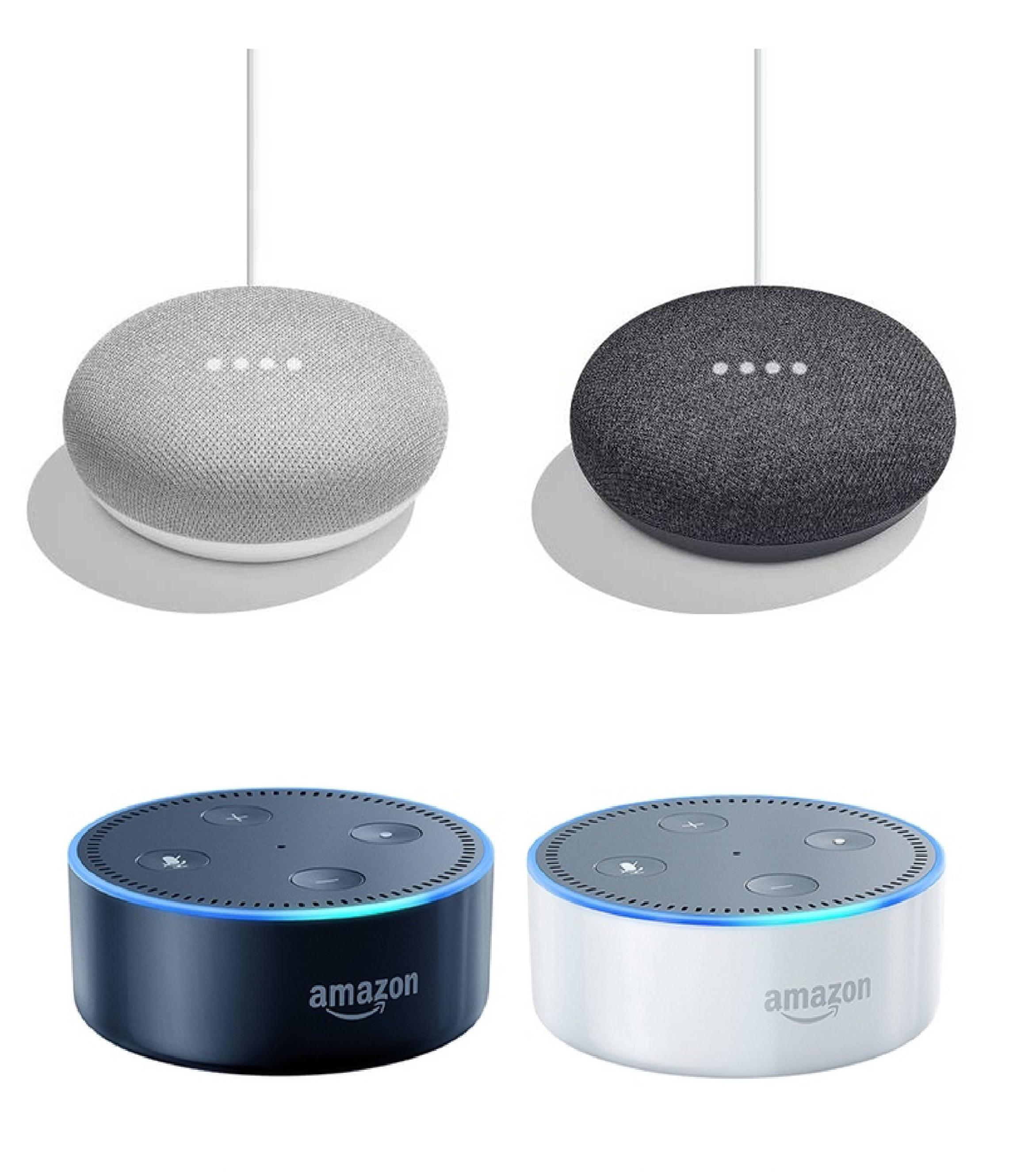 Amazon Echo Dot Black or White £39.99 // Google Home Mini Chalk or Charcoal £34 with 2 year guarantee Free C&C @ John Lewis