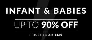 Up to 90% off baby clothing.@ Sports Direct
