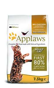 Applaws Cat Dry Adult Chicken, 7.5 Kg - £20.59 @ Amazon