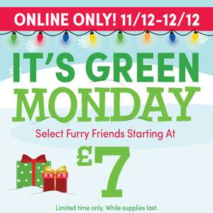 Green Monday at Build a Bear teddies starting at £7.00 @ buildabear.co.uk