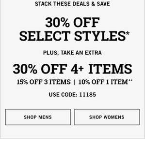 30% plus up to another 30% @ Abercrombie