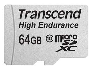 Transcend 64GB High Endurance microSD Card with Adapter at Amazon for £34.99 (Prime Exclusive)