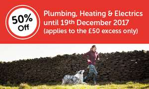 Boiler, Heating, Plumbing + Electrics £8 a month (£50 excess) for the first year @ Homeserve