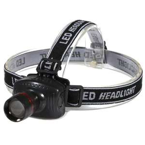 3W Super Bright LED Headlamp 3 Mode Zoomable Camping Fishing Headlight 75p @ Gearbest