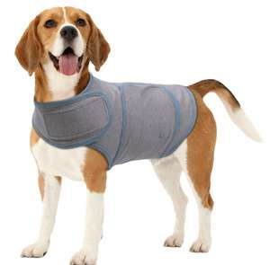 Vivaglory anti-anxiety coat (cheaper alternative to Thundershirt). Prices start at £11.99 (Prime) £15.98 (Non Prime) @ Sold by VIVAGLORY PETS and Fulfilled by Amazon.
