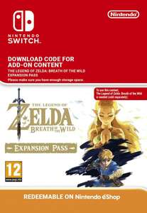 The Legend of Zelda Breath of the Wild Expansion Pass (Switch) with apple pay/facebook code - £16.14 @ CDKeys