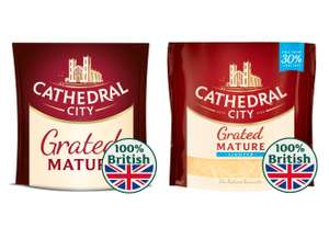 Cathedral City Mature or Lighter Mature Grated Cheese 180g for £1 @ Morrisons