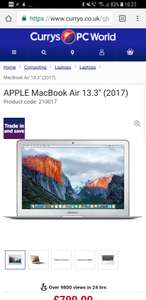 MacBook Air. £799 (Price after trade in £674) @ Currys