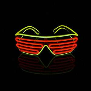 El Wire LED Light Up  Glasses - £7.59 PRIME / £11.58 NON PRIME @ Sold by LERWAY Tech. and Fulfilled by Amazon