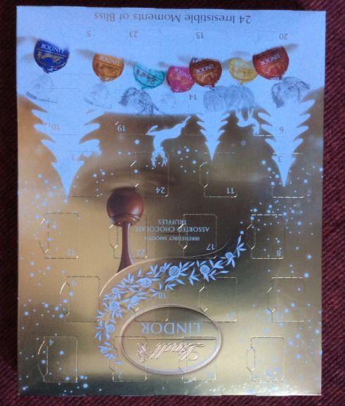 Lindor truffle advent calendar 300g in Tesco store - £2.50