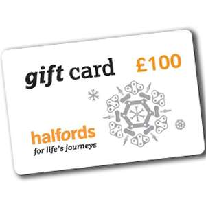 Buy £100 Halfords Gift Card and get a £10 Gift Card Free (Online Only Offer)
