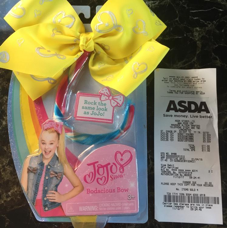 Jo Jo Bow £3 @ Asda Lancaster