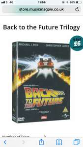 Back to the future trilogy £1.99 at music magpie + on 4 for £6 offer