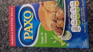 Paxo stuffing 59p / 29p when using topcashback at asda