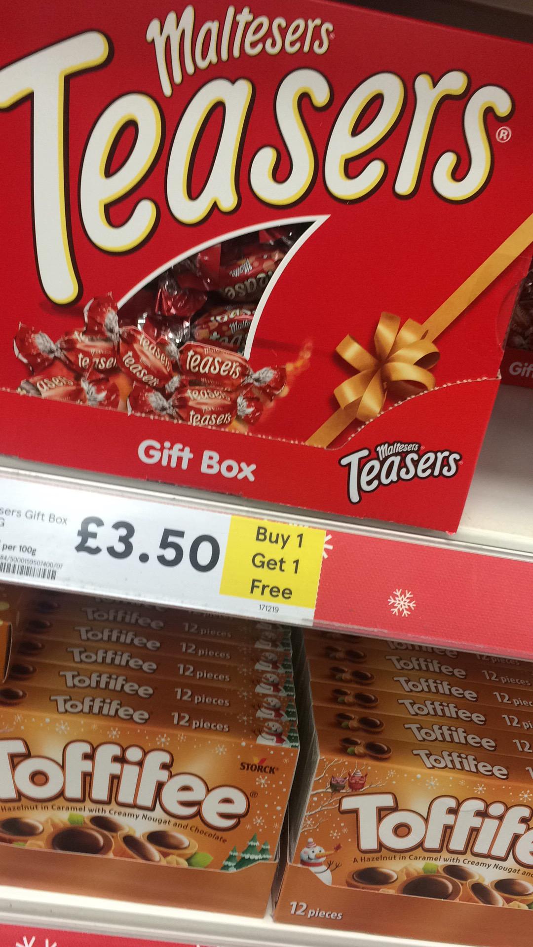 box Gift discount offer & Malteser teasers gift box bogof £3.50 @ tesco! - Tesco | AceDealClub Aboutintivar.Com