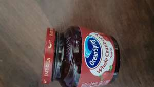 Ocean spray cranberry sauce, 50p at Asda when claiming cashback from topcashback