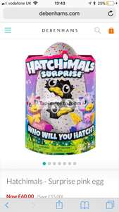 Hatchimal twins £48.00 with code ph36 @ Debenhams - Free delivery