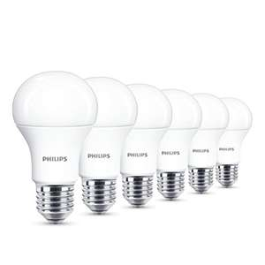 Philips LED E27 Edison Screw Light Bulbs, Frosted, 13 W (100 W) - Warm White, Pack of 6 [Energy Class A+] £12 @ amazon - Prime exclusive