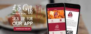 Toby Carvery £5 off a minimun spend of £10 when you register the Toby Carvery App (New customers)