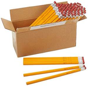 AmazonBasics Wood-cased #2 HB Eraser Topped Pencils - Box of 96 £8.50 Prime / £7.22 Student Prime / £8.08 S&S @ Amazon Student Prime Discount will Stack with S+S Discount(+ £4.75 P&P Non Prime)