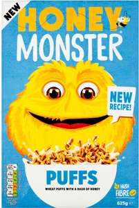 Honey Monster Puff Cereal (625g) was £3.28 NOW ONLY £1.99 @ Poundstretcher