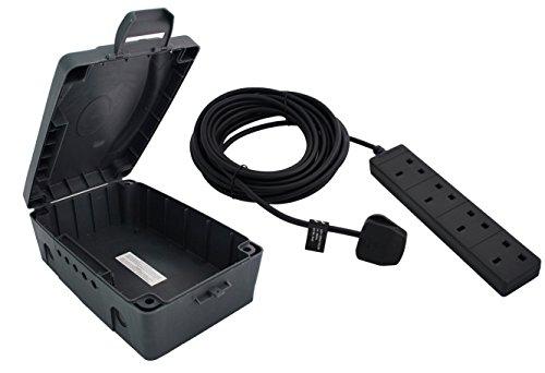 Masterplug Weatherproof Box with 4 Socket 10 m Extension Lead £14.42 prime / £19.17 non prime @ Amazon