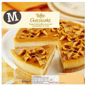 Morrisons Strawberry / Double Chocolate / Lemon / Toffee Cheesecake (485g) was £1.50 now 2 for £2.00
