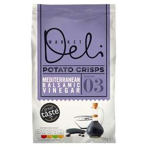 Walkers Market Deli Balsamic Vinegar Crisps 150g - 59p from Heron Foods.