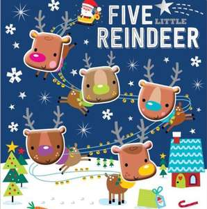 Five little Reindeer book £3 @ The Works FREE click & collect