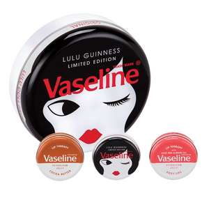 Lulu Guinness Vaseline Lip Therapy selection (3x 20g) Gift set Tin £3.25 @ Co-op