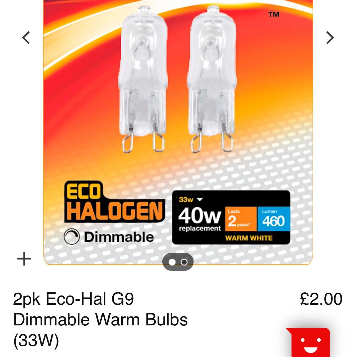 G9 Energerizer light bulbs 40w £2 @ Matalan
