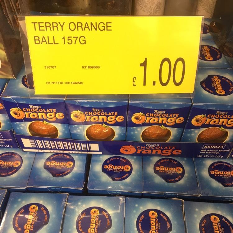 Terry's Chocolate Orange - £1 each @ B&M