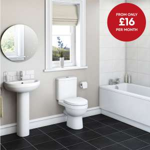 Victoria Plum complete bathroom suite including all taps,waste and bath panels, FREE Del, (inc £10 off) - £220.40