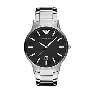 Gents Armani Stainless Steel Black Dial Watch £104.55 @ Amazon