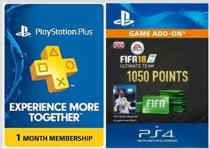 FOR THE FIFA POINTS BUYERS! FIFA 18 PS4 In-Game offer - 1 month PlayStation Plus + FREE 1050 Fifa Points(Worth £7.99 In-Game!) for £6.99